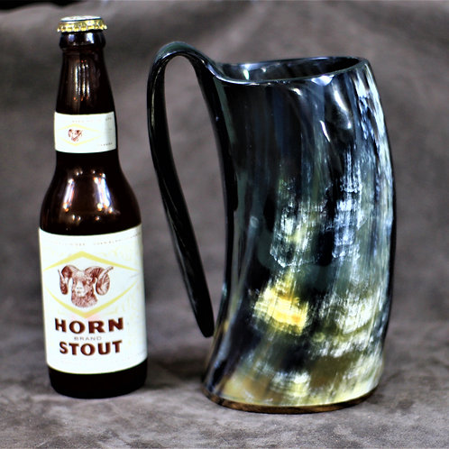 Giant drinking horn mug, holds 3 beers