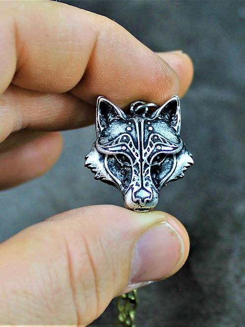 Viking wolf necklace, Fenrir themed, very nice details