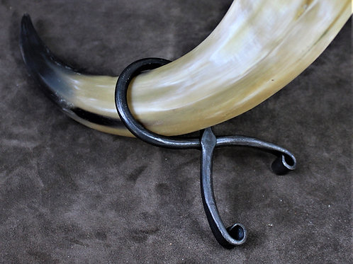 Drinking horn stand, iron, size standard