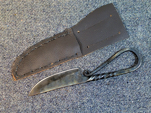 Viking style camp knife, with sheath