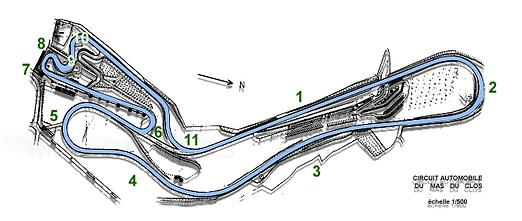 Plan Circuit du Mas Du Clos