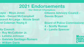 Michigan People's Campaign announces endorsements for 2021 local elections
