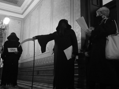 "Grim Reapers Highlight Fatal Error of Sen. Shirkey's ""Herd Immunity"" Strategy"