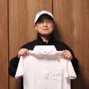 ④角居厩舎スタッフ半袖ポロシャツ(白・S)