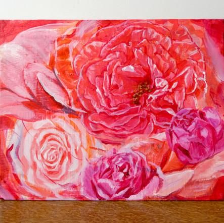 Floral paintings バラ(冬乃太陽作)