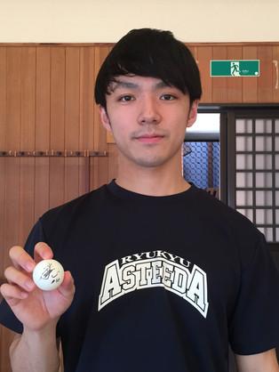 木造 勇人選手使用 タオル+サイン入り練習球