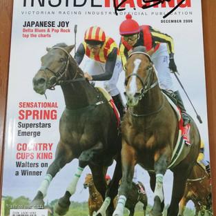 デルタブルース 2006年メルボルンカップ優勝の記事が掲載の雑誌
