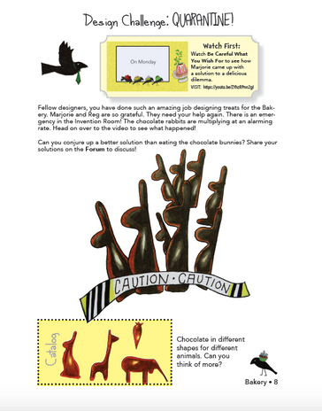 Activity book page in InDesign