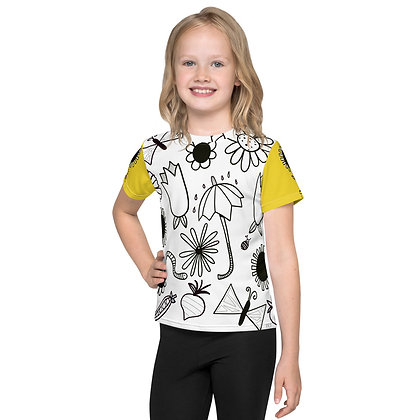 In the Garden Kids crew neck t-shirt