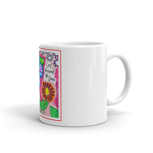 Be Seen White glossy mug