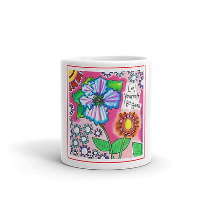 Be Seen Comfort Card glossy mug
