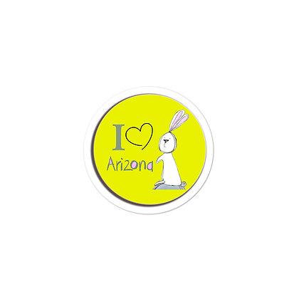I LOVE Arizona Bubble-free stickers