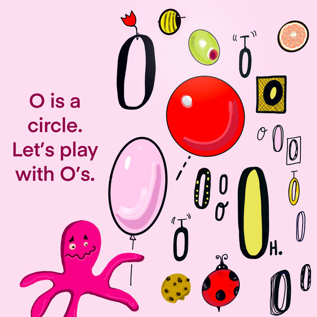 O is a circle.