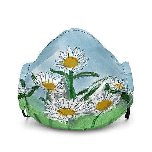 FIELD OF DAISIES Premium face mask