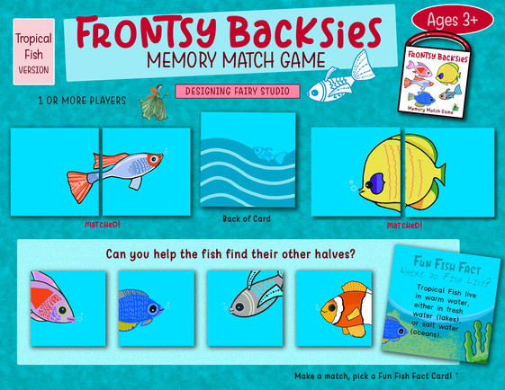 Frontsy Backsies Memory Match Game