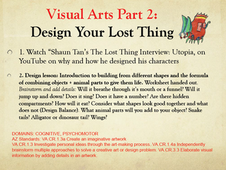 Art Lessons at Home: Design Your Lost Thing