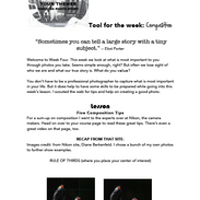 Page from downloadable lesson from Tell Your Story class