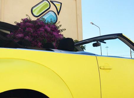 car wrap yellow