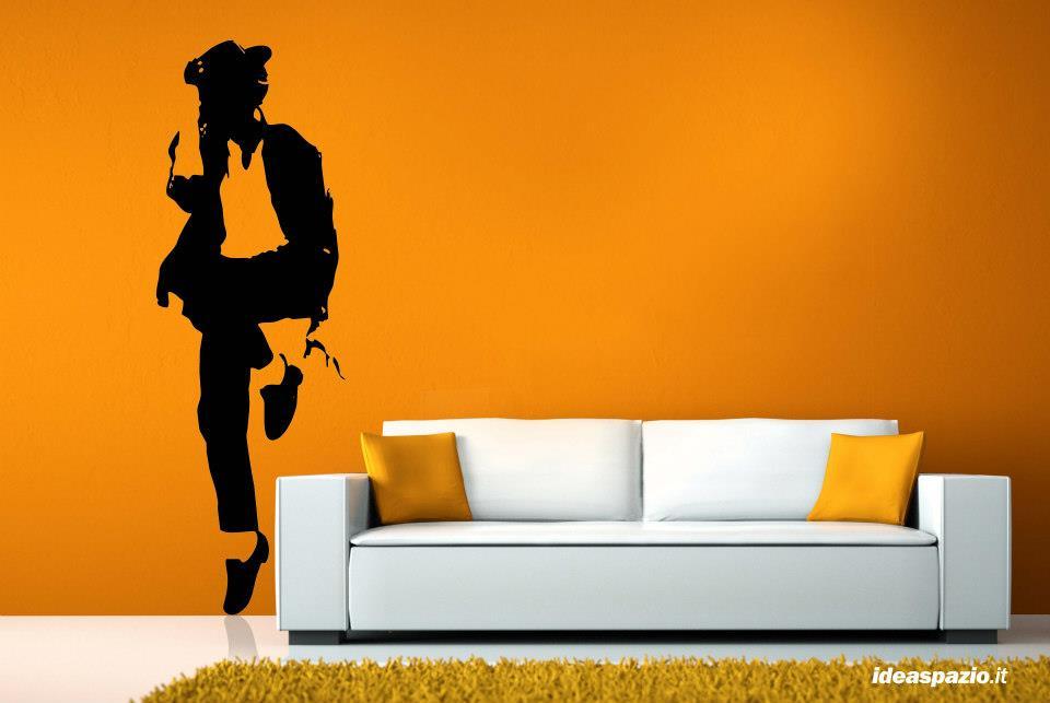 silhouette su parete