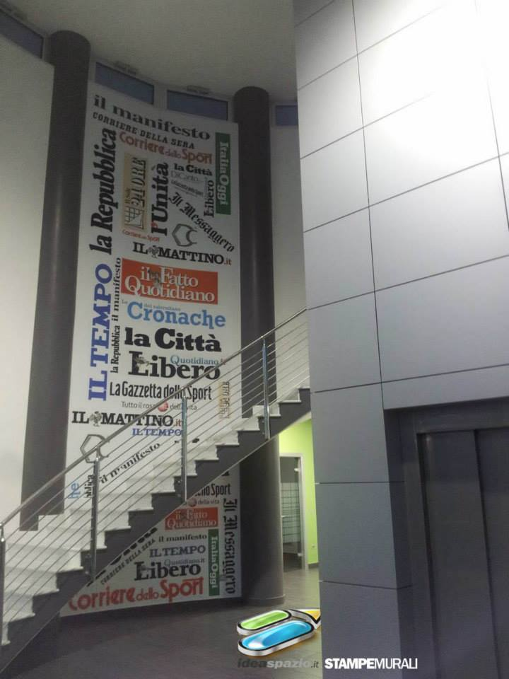 stampa su parete