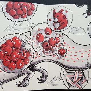 Book 3 pages #ink #brushpen #sketchbook