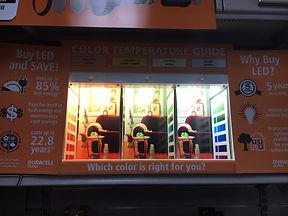 LED Product Marketing Signage Color Temp