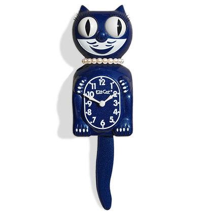 Kit-Cat Clock Lady - Horloge Chat Lady Bleue Galaxy