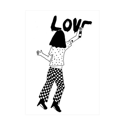 Helen B - Carte postale Love