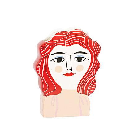 Vase Femme rouge
