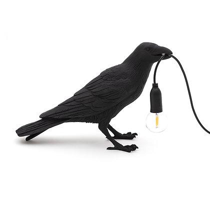 Seletti - Oiseau à poser noir