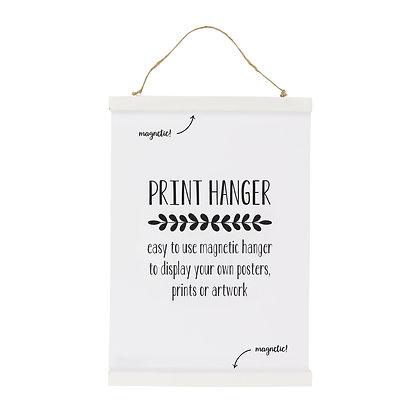 Porte-affiche magnétique blanc