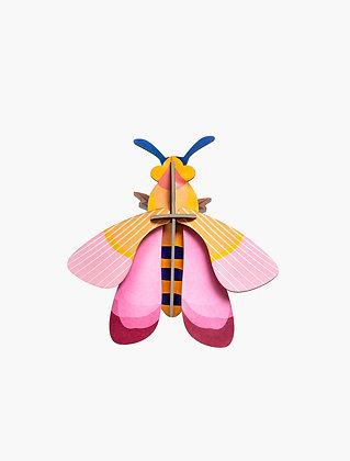 Insecte 3D à construire - Abeille rose
