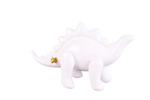 Tirelire Stégosaure Blanc