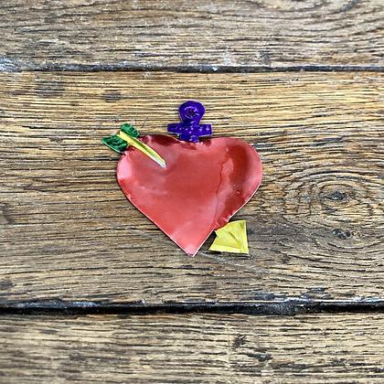 Mini Cœur ex-voto en métal #8