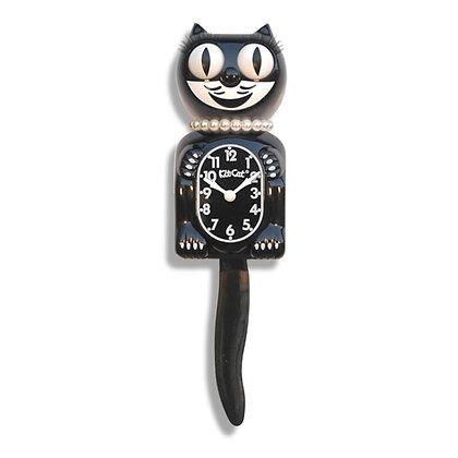 Kit-Cat Clock Lady - Horloge Chat Lady Noire