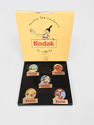 Vintage - Coffret de 5 pins Kodak