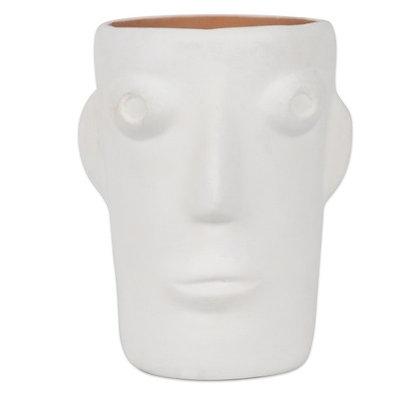 Grand vase Cabeza Blanc