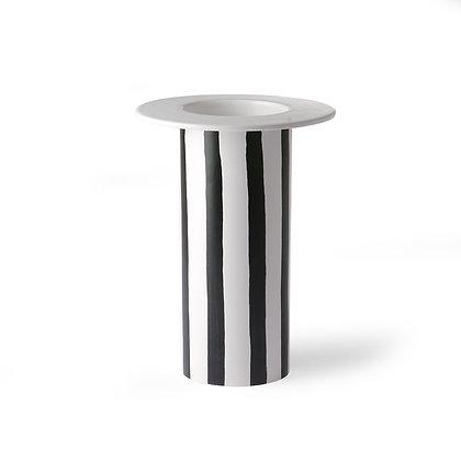 Grand vase noir et blanc