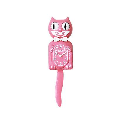 Kit-Cat Clock Rose - Horloge Chat Rose