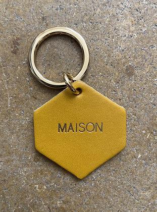 FAUVETTE - Porte-clés moutarde MAISON