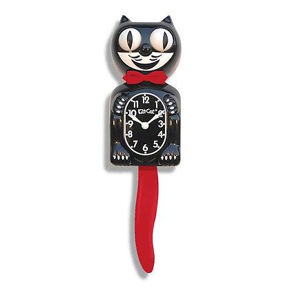 Kit-Cat Clock Noire et Rouge - Horloge Chat Noire