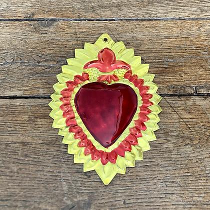 Cœur ex-voto en métal #3