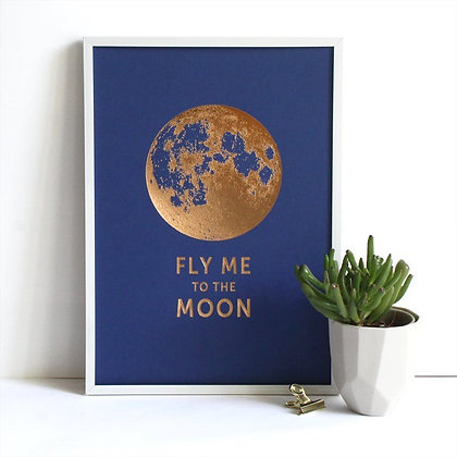 ÉDITION DU PAON - Affiche Fly me to the moon