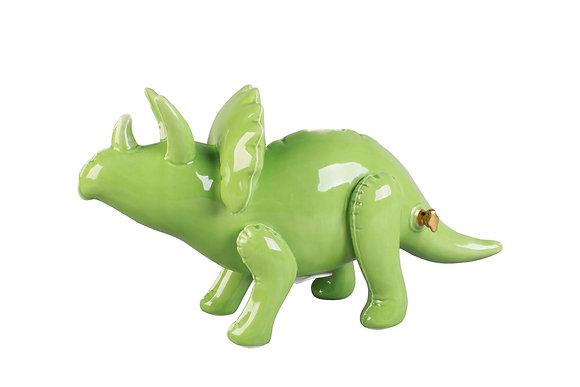 Tirelire Tricératops Vert