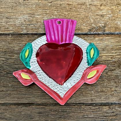 Cœur ex-voto en métal #11
