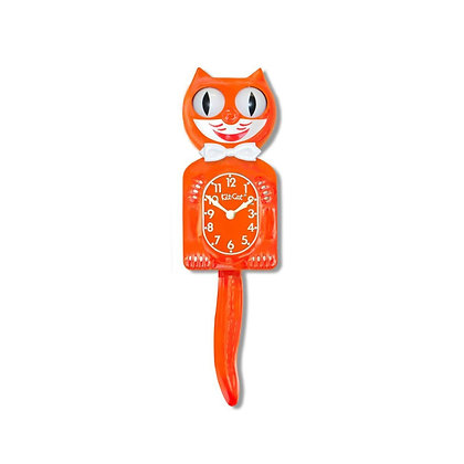 Kit-Cat Clock Orange - Horloge Chat Orange