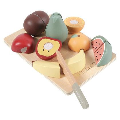 Fruits à découper en bois