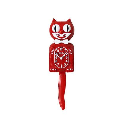 Kit-Cat Clock Rouge - Horloge Chat Rouge