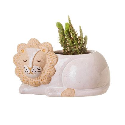 Porte plante Lion