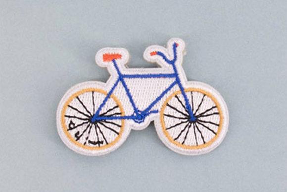 Broche brodée - Vélo